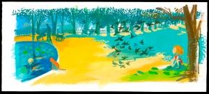 איור של ולי מינצי מתוך קטנטנה בגינה של גלית ראבד